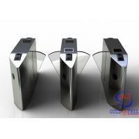 Best Full Automatic Flap Barrier Gate With Reader Card / Fingerprint Recognition For Gym / Club  Entrance wholesale
