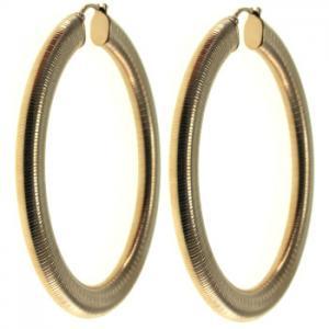 Best Graduated Oval Stainless Steel Hoop Earrings Nickel Free For Woman wholesale