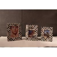 China Square Customized Picture Frames , Plywood Frame with Shell Decoration on sale