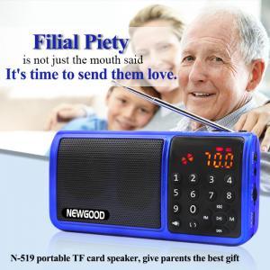 Best EQ effect portable FM radio subwoofer speaker with LED flashlight wholesale
