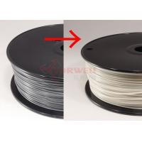 Best ABS 3D printer filament color change filament grey to white for Makerbot / UP 3D printer wholesale