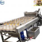 High Pressure Brush Potato Washing Machine , Fruit And Vegetable Cleaner Machine
