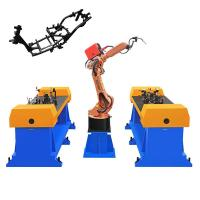 Cheap 1100 Kg Industrial Welding Robots 1 Year Warranty For Automobile / Car Oil Tank for sale