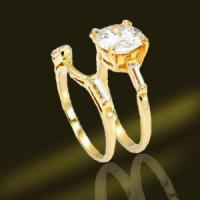 Best Gold Plated Wedding Couple Rings Silver Jewellry (RSA3422) wholesale