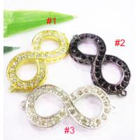 Best Colorful Crystal Eight Charms Handmade Jewelry Findings 25 * 55mm wholesale