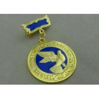 Cheap 3D Brass Die Stamped Custom Awards Medals Hard Enamel 100mm * 70mm for sale
