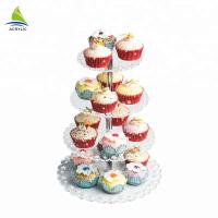 China Best Quality Square Dessert Cupcake Tower Modern Acrylic plastic cake stand on sale
