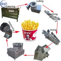 Snack Food Small Potato Chips Making Machine 304 SUS Material 500kg/H Capacity