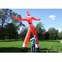 Best 2m - 6m Height Blow Up Waving Man , Advertising Air Dancers Santa Claus Shaped wholesale