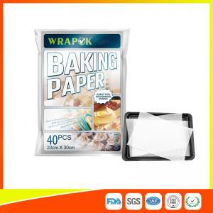 Best Waterproof Baking Paper Sheets / Non Toxic Parchment Paper Heat Resistant 20 * 30cm wholesale