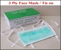 Best Disposable 3-ply face mask with tie on, different size, materials and colors for option wholesale