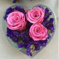Best Transparent Acrylic Storage Box Flower Container Gift Luxury Packaging Heart Shaped wholesale