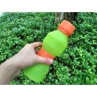 Best 500ML FDA Approved Food Grade Silicone Water Bottle Unbreakable wholesale