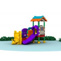 Best Little Kids Outside Playset / Kids Plastic Play Structure With Slide  TQ-QS004 wholesale