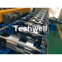 Best K Gutter, Round Gutter Cold Roll Forming Machine With Hydraulic Cutting PLC Control wholesale