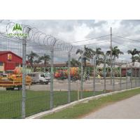 Best Square Post PVC Coated Welded Wire Fencing V Bend Rigid Fence For Airport wholesale