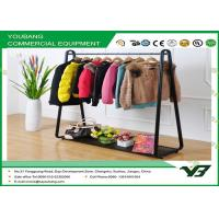 Cheap Movable Multifunctional Metal Garment Rack With Single Bar Cloth Hanger wholesale