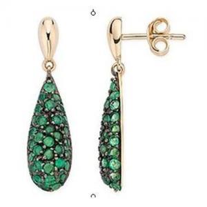 Best Emerald Yellow Gold earring wholesale