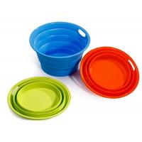 Best ODM / OEM Green Silicone Collapsible Bucket , Silicone Fruit Bucket BPA Free wholesale