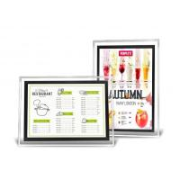 Cheap A3 Acrylic Advertising Light Box Display , Illuminated Menu Boards For Restaurants  for sale