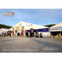 China Aluminum Frame Outside Party Tents With Clear PVC Roof Cover / Big Commercial Tent on sale