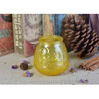 Best Custom Soda Lime Glass Candle Container For Home Decor , Yellow wholesale