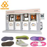 Best Four Stations PVC Mould Making Machine , Vertical Injection Moulding Machine Two Injector wholesale