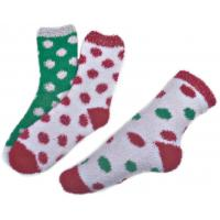 Best Polka dot pattern ,Aloe Infused SPA Socks polyester plush therapy spa sock wholesale