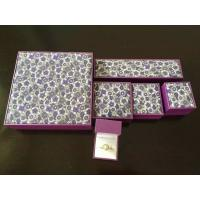 Best Classic Leatherette Earring Chain Jewellery Packaging Boxes With Gold Logo Printing wholesale