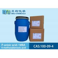Best White crystalline powder 	P-anisic Acid 100-09-4 99.0% purity with stock wholesale