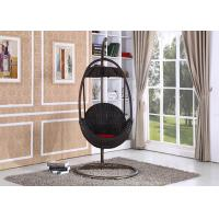 China Outdoor Rattan Hanging Swing Chair / Rattan Egg Swing Chair in Basket Shape on sale