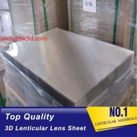 Buy cheap 3d lenticular lens sheet 70LPI PET 0.9MM 60X80CM for 3d lenticular printing by from wholesalers