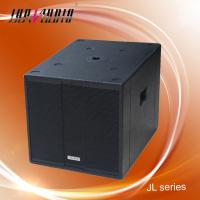 Best 18 inch 800W RMS Wooden Box Speaker , 4OHM Subwoofer Speakers wholesale