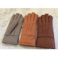 Best Merino Lambswool Lined Gloves , Womens Shearling Sheepskin Mittens Waterproof wholesale