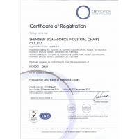 Shenzhen Sigmaforce Industrial Chairs Co., Ltd. Certifications