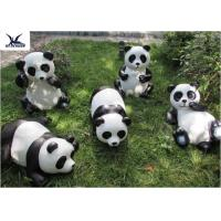 Outdoor High Simulation Panda Fiberglass Statues For Amusement Park Decoration