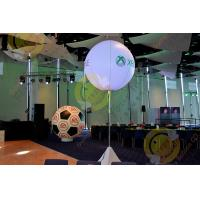 Best 2.5m White Attractive Round Inflatable Helium Balloon with RGB LED Lighting wholesale