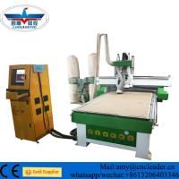 China Automatic  tool changing wood carving  CNC router machine with 4*8ft for  kitchen cabinet door on sale