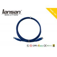 Buy cheap Dark Blue Color Cat6 UTP 24AWG PVC patch cord Round Shaped RJ45 With PVC Jacket from wholesalers
