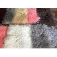 Cheap 110cm * 55cm Sheepskin Accent Rug Plate For Home Throw / Making Garment for sale