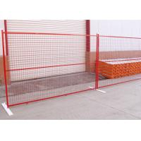 Best PVC Coated Temporary Site Welded Mesh Fencing Full Accessories Metal Feet wholesale