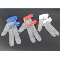 Best Safety Protection Stainless Steel Wire Mesh Cut Resistant Gloves Three Fingers wholesale