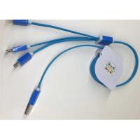 Cheap Multifunction 3 In 1 USB Retractable Charging Cable 3ft Type C For Mobile Phone for sale