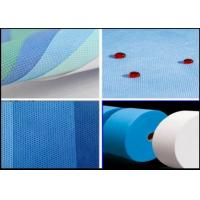 Best SMS Polypropylene Medical White And Blue 3.2m Composite Non Woven Fabric wholesale