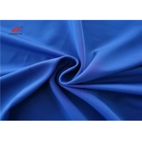 China Semi Dull Warp Knitted Polyester Spandex Fabric Plain Dyed on sale