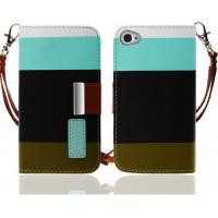 Cheap Multi-function Wallet Phone Cases For iPhone5 Case Cover With Card Slots for sale