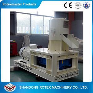 Best 30 / 37kw White Blue Flat Die Wood Pellet Machine , Wood Pellet Production Equipment wholesale