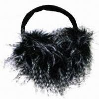 Best Ladies ear muff, made of polyester, available in black wholesale