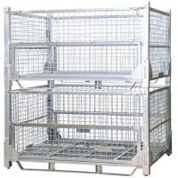 Buy cheap Transport Industry Steel Mesh Storage Cages Galvanized Surface Finished from wholesalers
