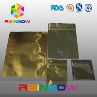 Best Gold Aluminum Foil Anti Static Bag Zipper Pouch Packing For Electronic Products wholesale